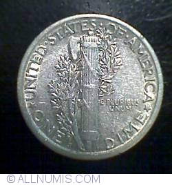 Image #2 of Dime 1919 S