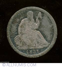 Seated Liberty Half Dime 1837 (Anul scris mare)