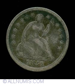Image #1 of Seated Liberty Half Dime 1851 O