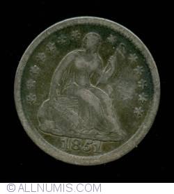 Seated Liberty Half Dime 1851 O