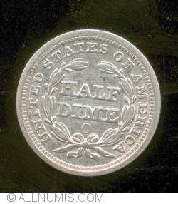 Image #2 of Seated Liberty Half Dime 1857 O