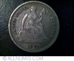 Image #1 of Seated Liberty Half Dime 1869