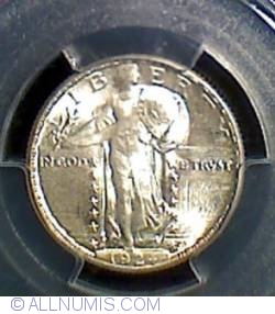Image #1 of Standing Liberty Quarter 1924 D