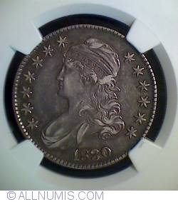 "Image #1 of Capped Bust Half Dollar 1830 (small""0"")"