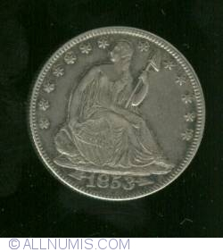 Image #1 of Half Dollar 1853 ( with rays and arrows