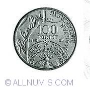 Imaginea #1 a 100 Forint 1990 - Andras Fay - Aniversarea de 150 de ani de la infiintarea Bancii de Economii din Pesta