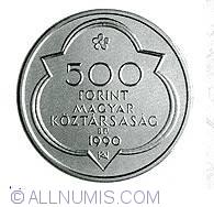 Imaginea #1 a 500 Forint 1990 - Cele doua capitale ale lui Matei Corvin