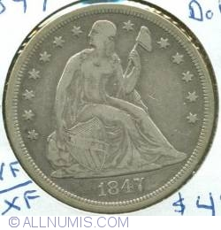 Image #1 of Seated Liberty Dollar 1847