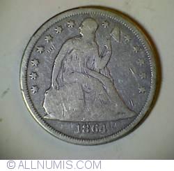 Image #1 of Seated Liberty Dollar 1864