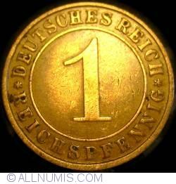 Image #1 of 1 Reichspfennig 1935 F