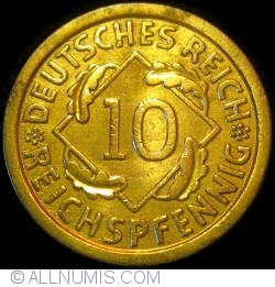 Image #1 of 10 Reichspfennig 1930 F