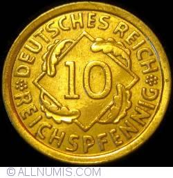 Image #1 of 10 Reichspfennig 1932 F