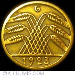 Image #2 of 5 Rentenpfennig 1923 G