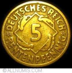 Image #1 of 5 Rentenpfennig 1923 G