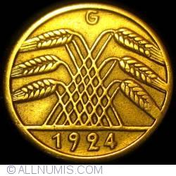 Image #2 of 5 Reichspfennig 1924 G