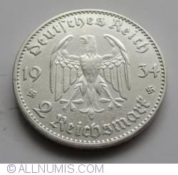 Image #1 of 2 Reichsmark 1934 E