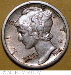 Image #2 of Dime 1916 S