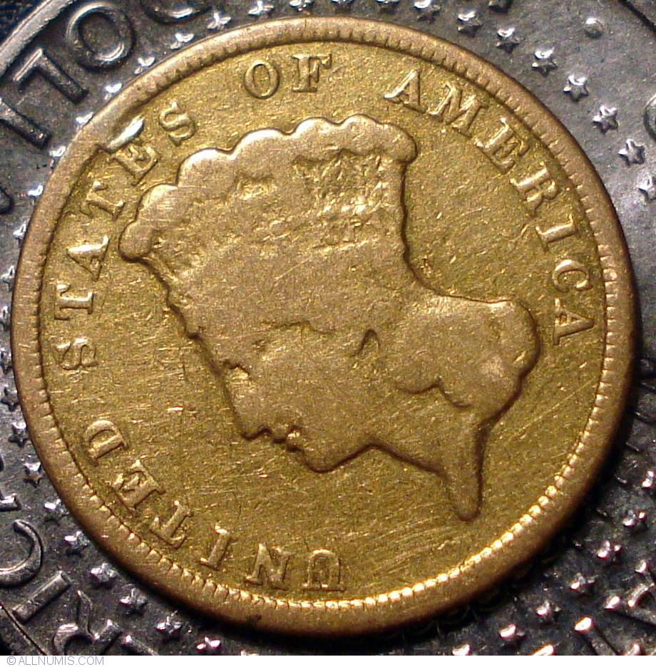 3 Dollars 1854 Three Dollar Piece 1854 1889 United