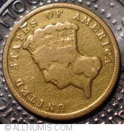 Image #2 of 3 Dollars 1854