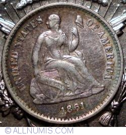 Image #2 of Seated Liberty Half Dime 1861