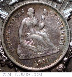 Seated Liberty Half Dime 1861