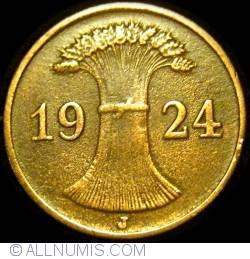 Image #2 of 1 Reichspfennig 1924 J