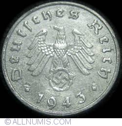 Image #2 of 10 Reichspfennig 1943 F