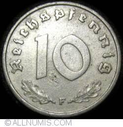 Image #1 of 10 Reichspfennig 1945 F