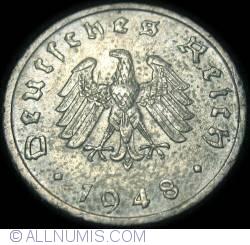 Image #2 of 10 Reichspfennig 1948 F