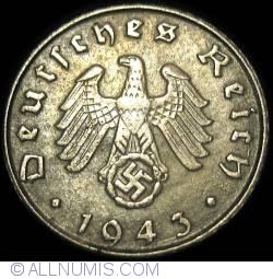 Image #2 of 5 Reichspfennig 1943 G