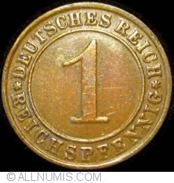 Image #1 of 1 Reichspfennig 1934 G