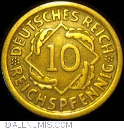Image #1 of 10 Reichspfennig 1924 D