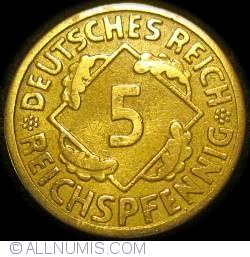 Image #1 of 5 Reichspfennig 1924 E