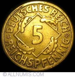 Image #1 of 5 Reichspfennig 1924 F