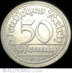 Image #1 of 50 Pfennig 1919 D
