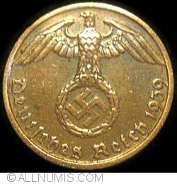 Image #2 of 1 Reichspfennig 1939 B