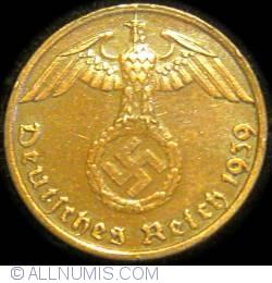 Image #2 of 1 Reichspfennig 1939 G