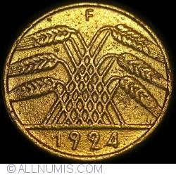 Image #2 of 10 Reichspfennig 1924 F