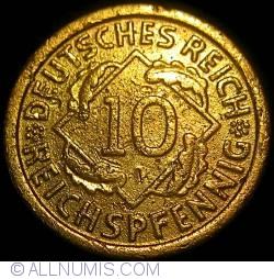 Image #1 of 10 Reichspfennig 1924 F
