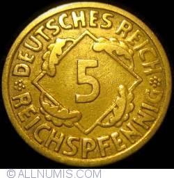 Image #1 of 5 Reichspfennig 1925 E