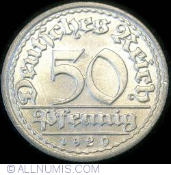 Image #1 of 50 Pfennig 1920 F