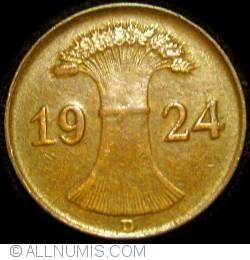 Image #2 of 1 Reichspfennig 1924 D