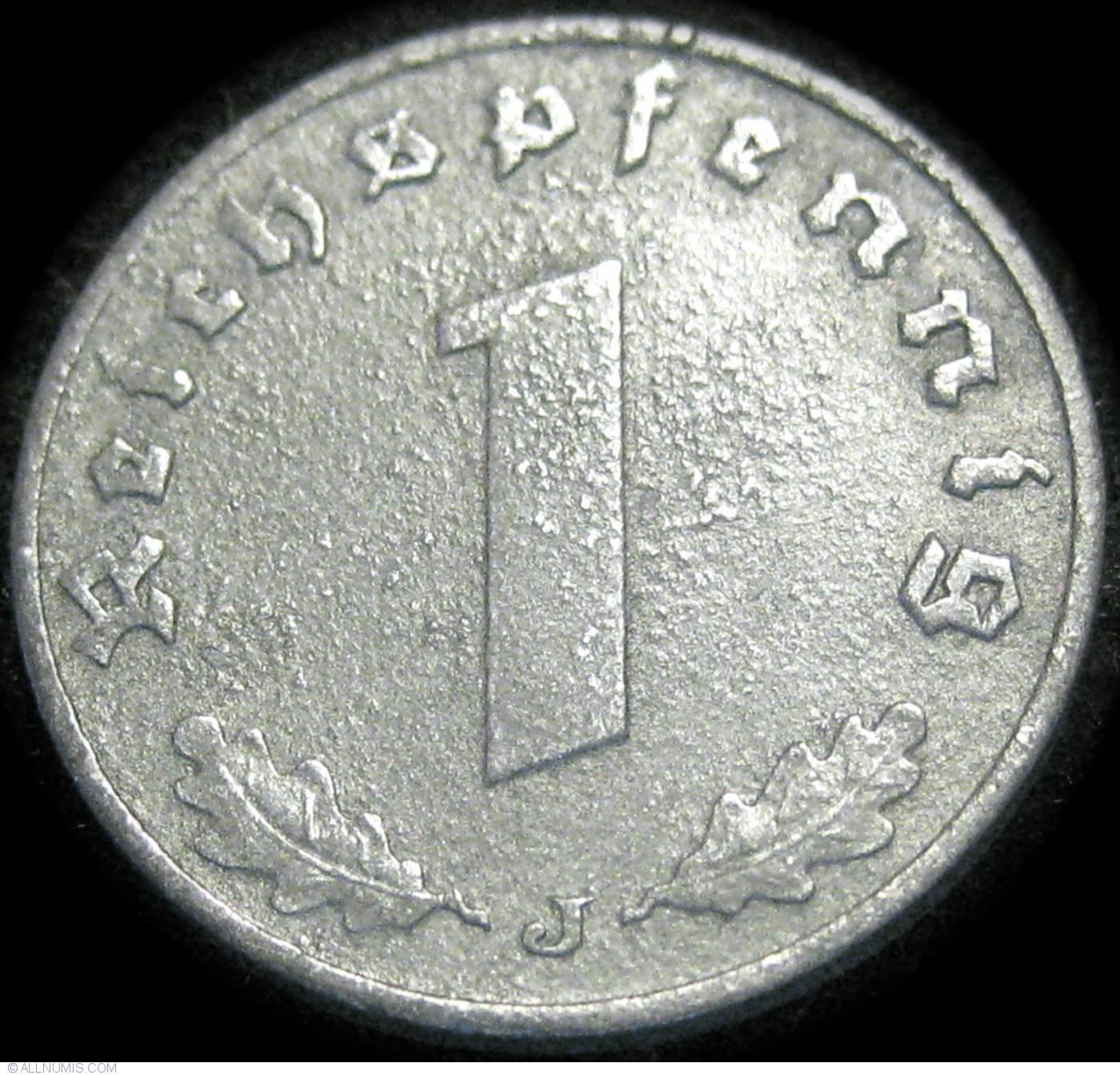 1 Reichspfennig 1941 J, Third Reich (1933-1945) - Germany