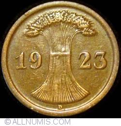 Image #2 of 2 Rentenpfennig 1923 D