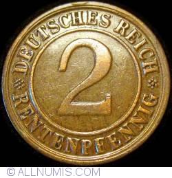 Image #1 of 2 Rentenpfennig 1923 D