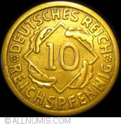 Image #1 of 10 Reichspfennig 1924 E