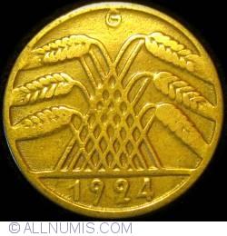 Image #2 of 10 Reichspfennig 1924 G