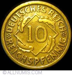 Image #1 of 10 Reichspfennig 1924 G