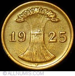 2  Reichspfennig 1925 F