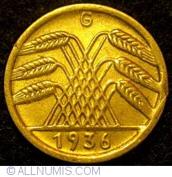 Image #2 of 5 Reichspfennig 1936 G
